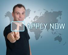 Stock Illustration of apply now