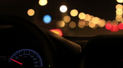 Driving in the night on the road,Beijing Stock Footage
