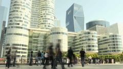 people walking. commuters. pedestrians. person businessman. business district - stock footage