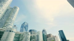 Modern city buildings. skyline background. real estate Stock Footage