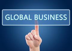 global business - stock illustration