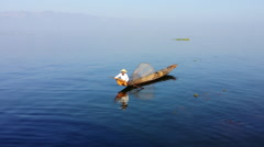 Peaceful and tranquil water nature background. Myanmar, Inle Lake - stock footage