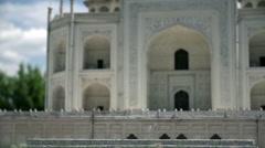 The Taj Mahal in Agra, India Stock Footage