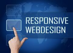 Stock Illustration of responsive webdesign