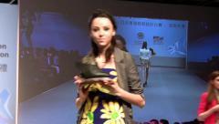 Super models Haute Couture catwalk footwear high fashion runway Fashion Week Stock Footage