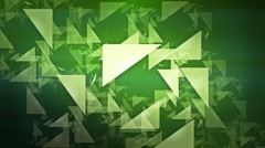 Green background with geometric figures Stock Footage