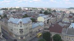 Lviv,  dome, roof Stock Footage