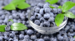 Portion of blueberries (seamless loopable) Stock Footage