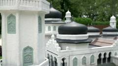 Black domes of Mosque, Banda Aceh from Indonesia Stock Footage