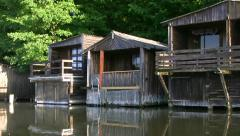 Boathouses at Lake Müritz - Mecklenburg Lake District - Northern Germany Stock Footage