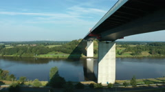 Bridge over the Kiel Canal (A23), Schleswig-Holsten, Germany Stock Footage