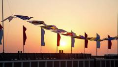 Semaphore flags marine Stock Footage