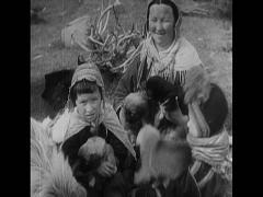 WW2 Russia Civillian Culture Stock Footage