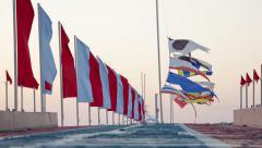 Semaphore flags marine Stock Footage
