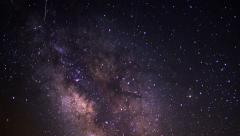 4K Milky Way Galaxy 94 Timelapse Mojave Desert Red Rock Canyon  - stock footage
