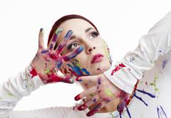 Stock Photo of painted woman