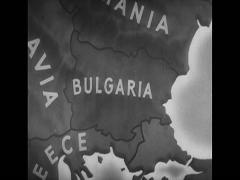 WW2 Map Animation Europe Stock Footage
