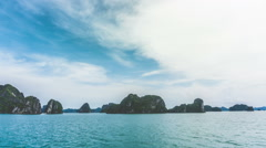 Halong Bay Cruse Stock Footage