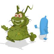 fun germ - stock illustration