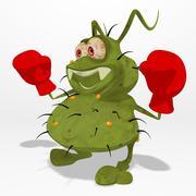 fun germ - stock illustration