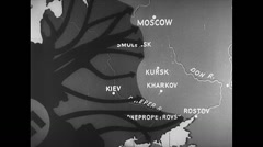 WW2 Russia Map Animation - stock footage