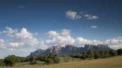 View mountains 4k montserrat sapni barcelona  Stock Footage