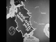 WW2 Map Annimation Stock Footage
