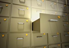 Stock Illustration of file cabinet