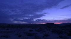 4K Sunrise in Mojave Desert 01 Joshua Trees Stock Footage