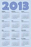 Calendar 2013 Stock Illustration