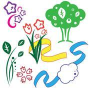 set of drawings. illustration - stock illustration