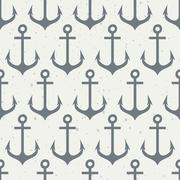 Seamless pattern with anchors. - stock illustration