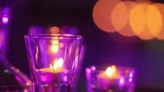 Burnings candles - stock footage