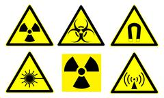 Hazard signs set  Stock Illustration