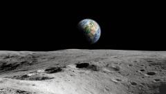 Apollo earth rise Stock Footage