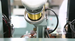 Gold wire roll for integrate circuit machine Stock Footage