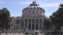 Athenaeum building, opera music concerts landmark building, vintage construction Stock Footage