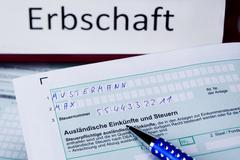 tax return for inheritance - stock photo