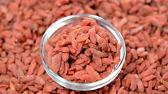 Dried goji berries (not loopable) Stock Footage