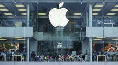 HONG KONG, CHINA - CIRCA 2014: Apple Store in the city center. Central HK. Stock Footage