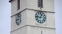 Old clock tower,measuring time, minutes,timepiece,architecture,time lapse - stock footage