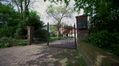 Residential entrance gate Stock Footage