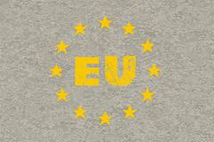 concrete eu flag - stock illustration