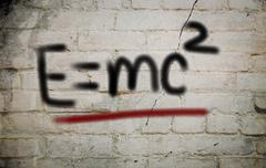 E=mc² albert einsteins physical formula concept Stock Illustration