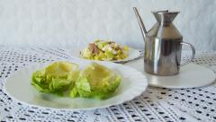 Salad Gets Prepared Stock Footage