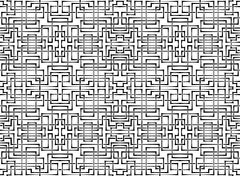 Vector seamless ornament. background of interlacing bands Stock Illustration