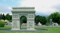 Arc de Triomphe in Paris, France - stock footage