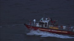 Boat Ocean FDNY New York Stock Footage