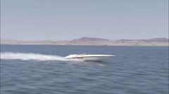 Las Vegas Speedboat Lake Stock Footage