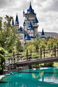 Fairytale castle at eskisehir sazova cultural public park,turkey Kuvituskuvat